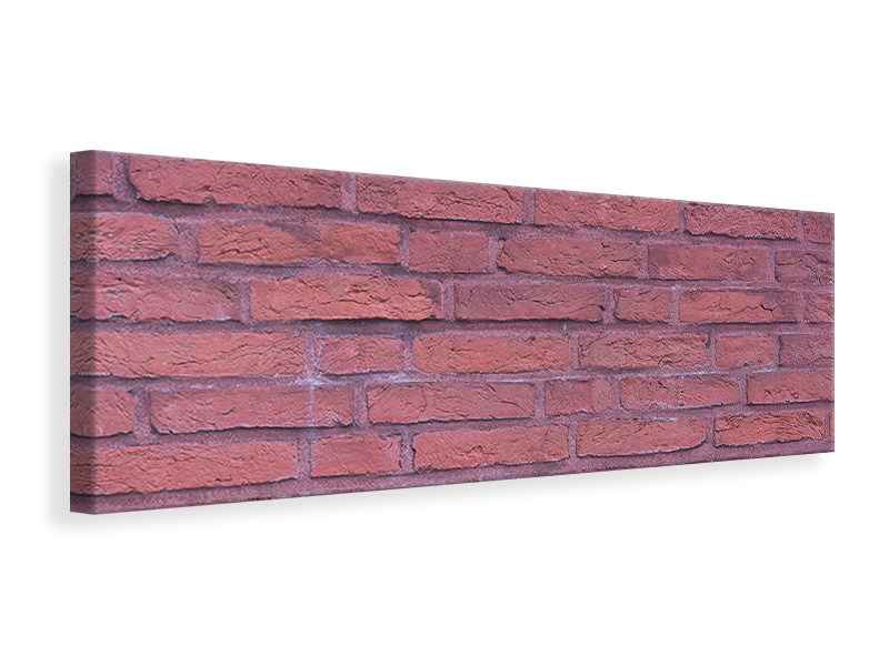 Panoramic Canvas Print Lacquered clinker bricks