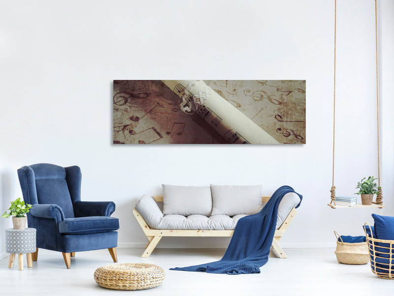 Panoramic Canvas Print A tune