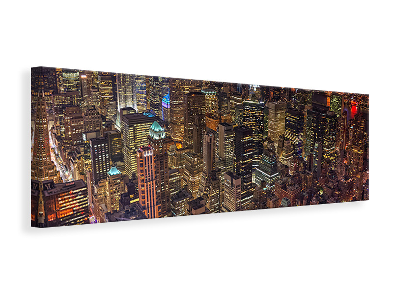 Panoramic Canvas Print Night Life