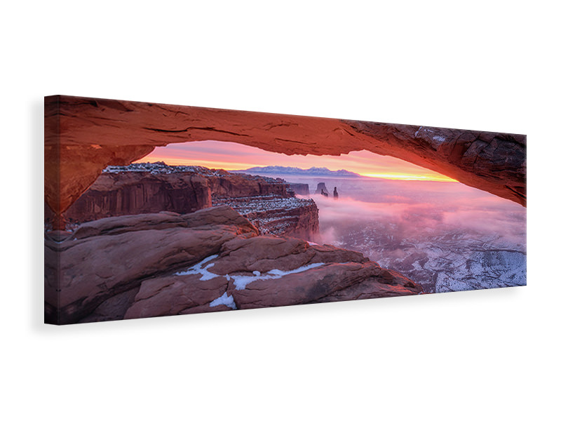 Panoramic Canvas Print The Moment Right Before Sunrise