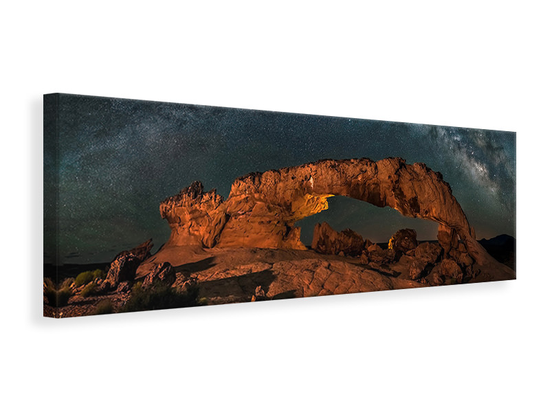 Panoramic Canvas Print Milky Way Over The Sunset Arch