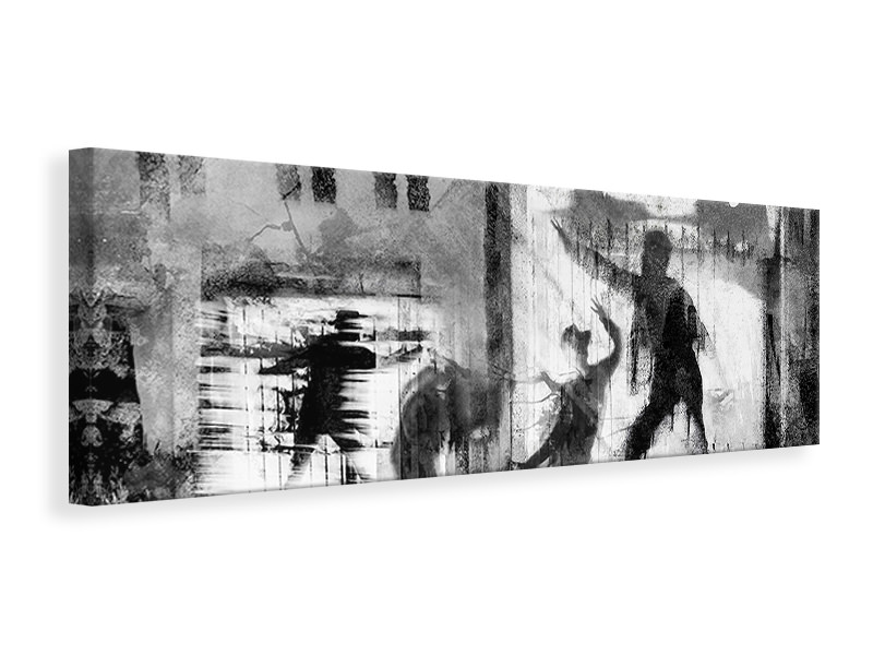 Panoramic Canvas Print All The Worlds A Stage