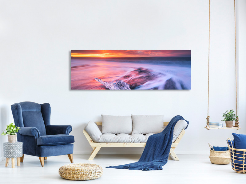 Panoramic Canvas Print Ice And Fire II