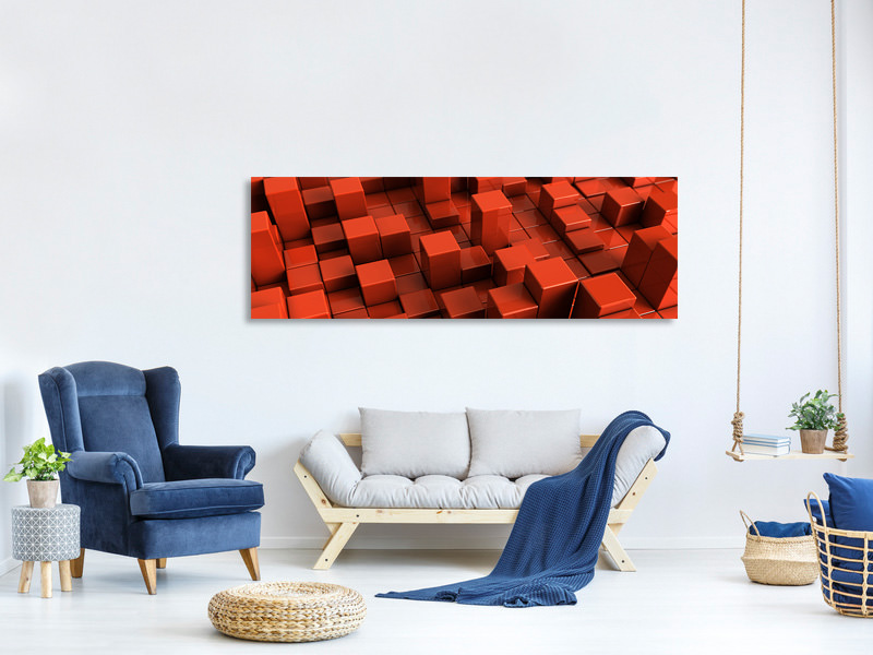Panoramic Canvas Print 3D Square