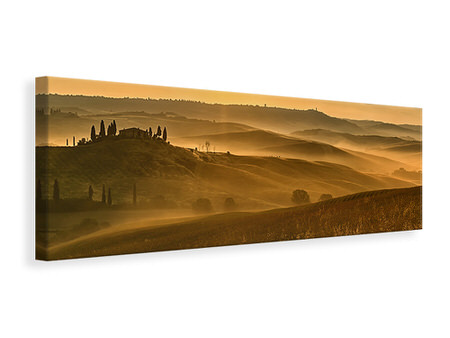 Panoramic Canvas Print Sunset In The Rocks