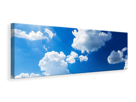 Panoramic Canvas Print Sky-Blue