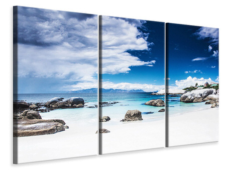 3 Piece Canvas Print Island Feeling