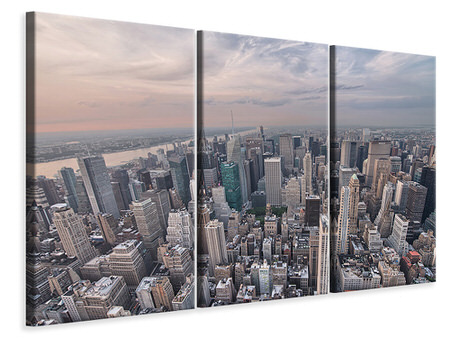 3 Piece Canvas Print Skyline View Over Manhattan
