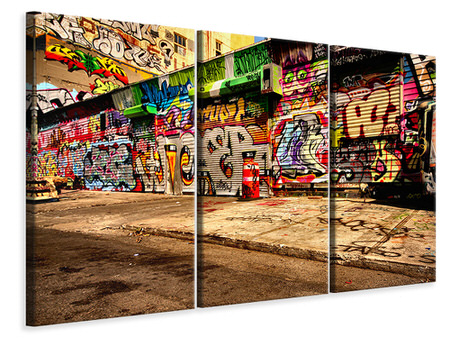 3 Piece Canvas Print Graffiti NY