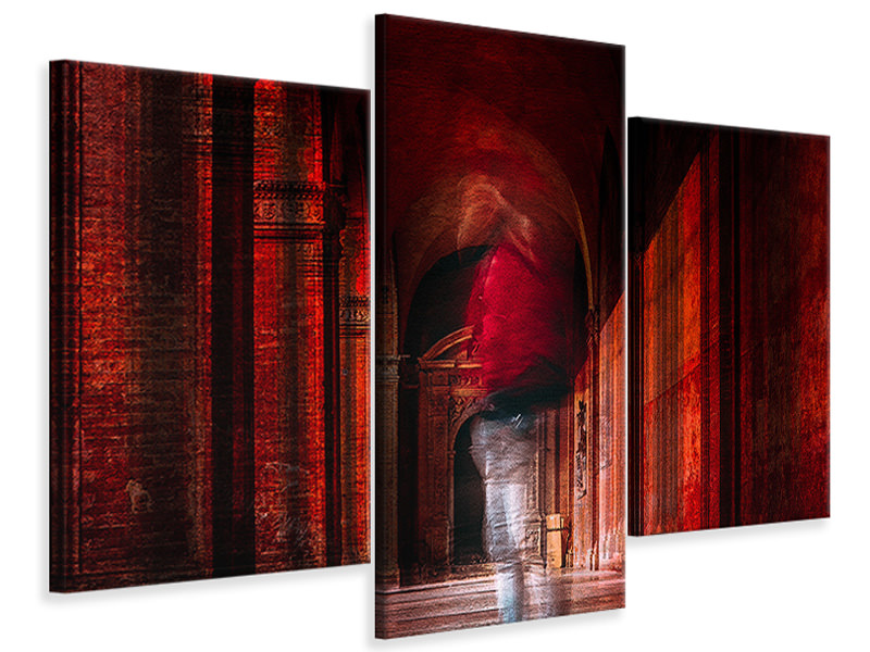 Modern 3 Piece Canvas Print Redfluid