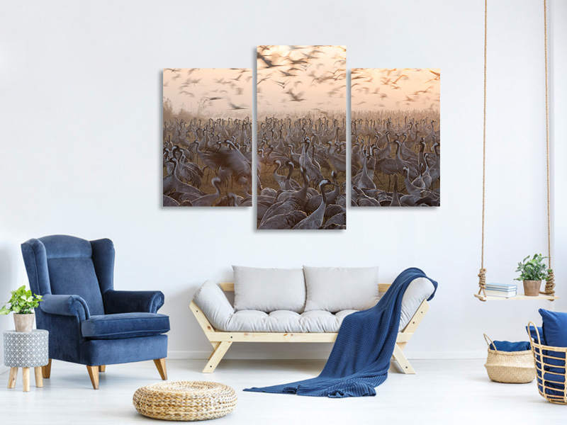 Modern 3 Piece Canvas Print The Mass