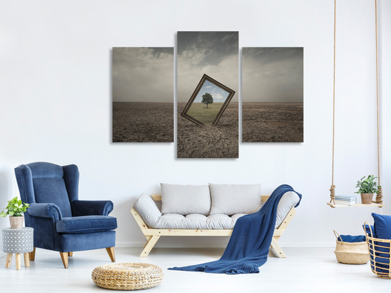 Modern 3 Piece Canvas Print Future Of Nature