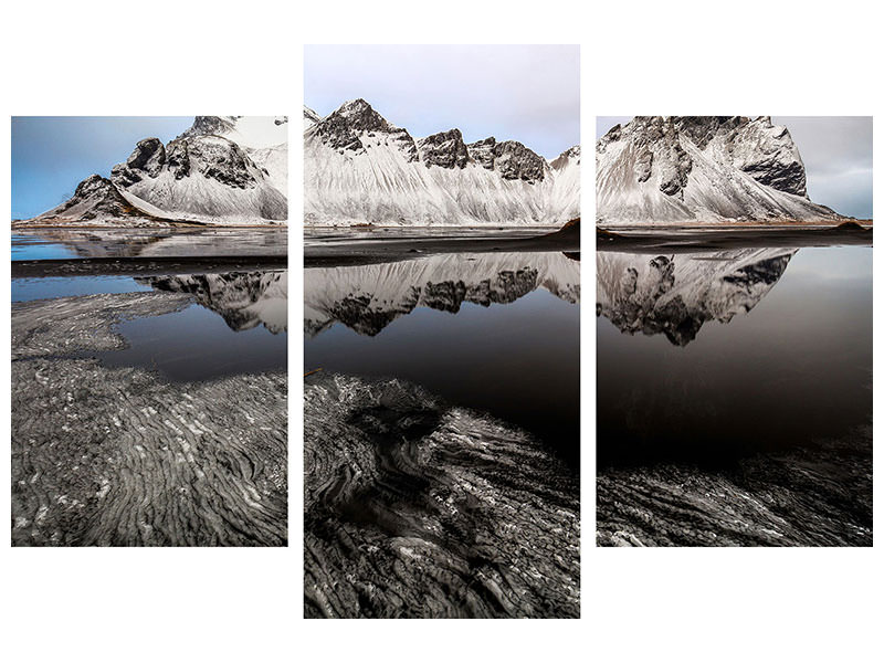 Modern 3 Piece Canvas Print The Metamorphosis Of Stokksnes