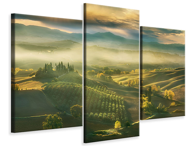 Modern 3 Piece Canvas Print Autumn A