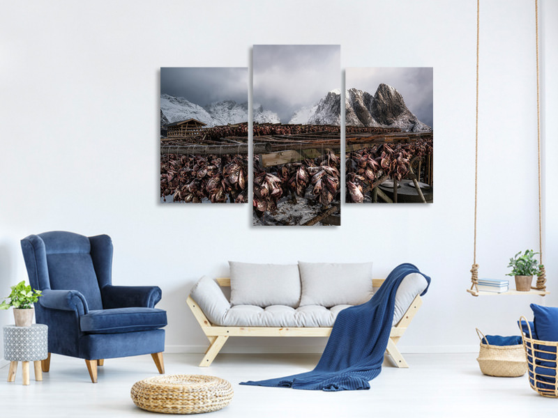 Modern 3 Piece Canvas Print Taste Of Norway