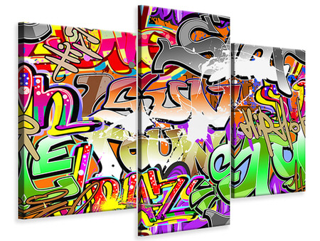 Modern 3 Piece Canvas Print Writings
