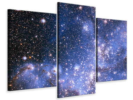 Modern 3 Piece Canvas Print Starry Sky