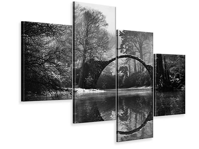 Modern 4 Piece Canvas Print Devils Bridge