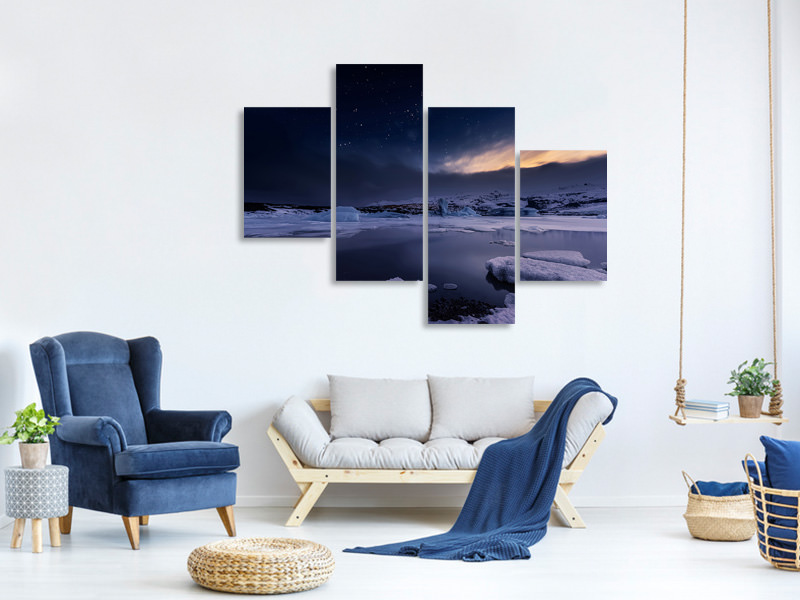 Modern 4 Piece Canvas Print At The End Of The Day