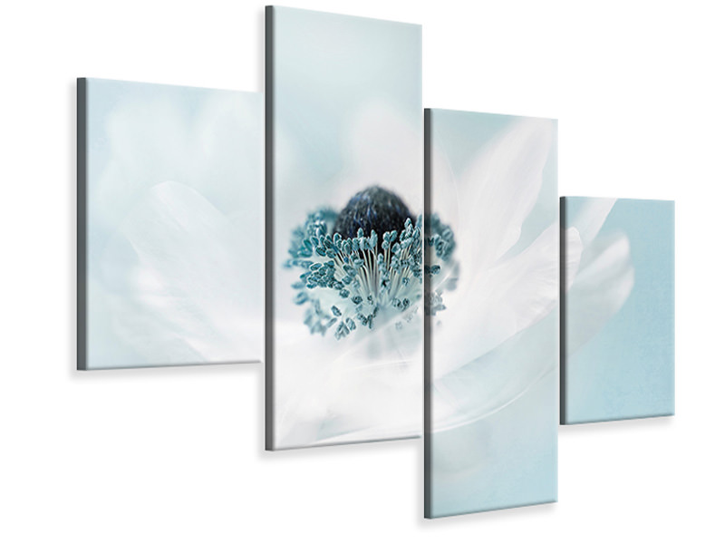 Modern 4 Piece Canvas Print Candy Floss