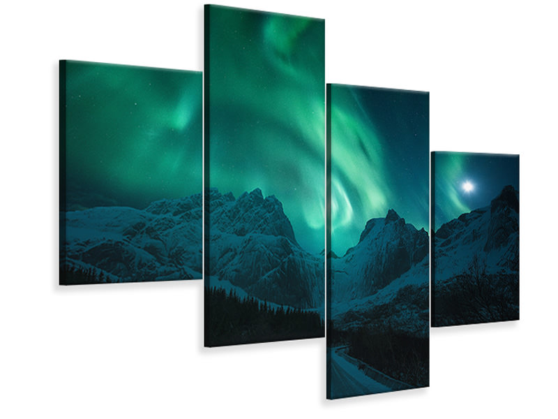 Modern 4 Piece Canvas Print The Green Poison