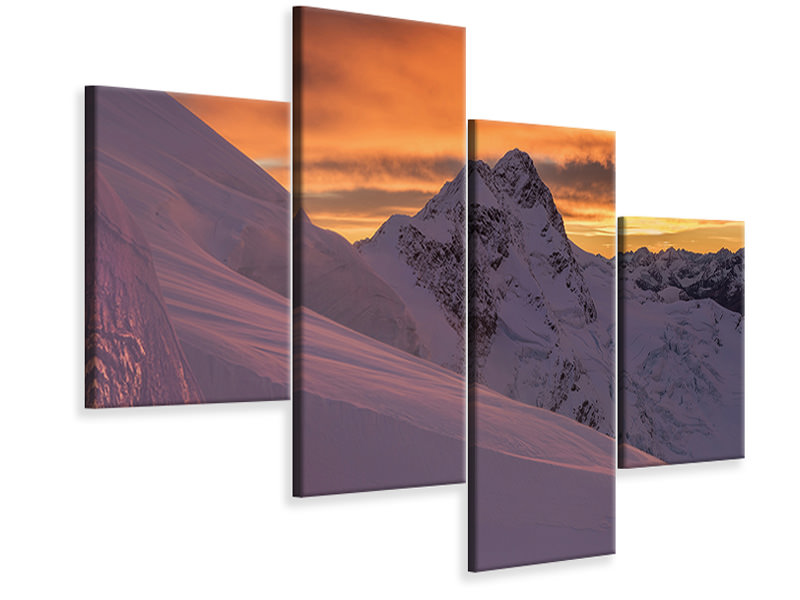 Modern 4 Piece Canvas Print Mount Broderick