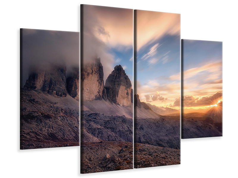 4 Piece Canvas Print The Final Moment