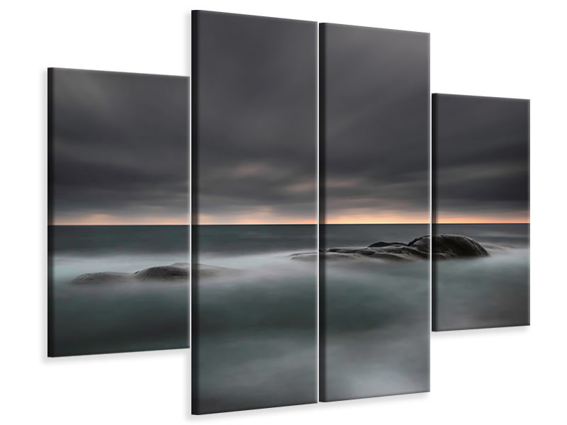 4 Piece Canvas Print Tranquility