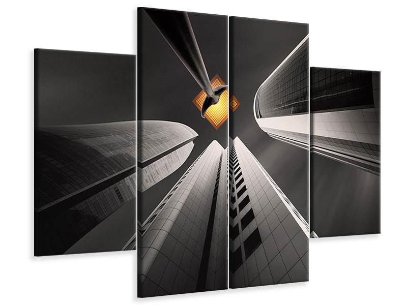 4 Piece Canvas Print Warm Hopes