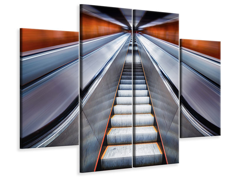 4 Piece Canvas Print Pushing The Limits