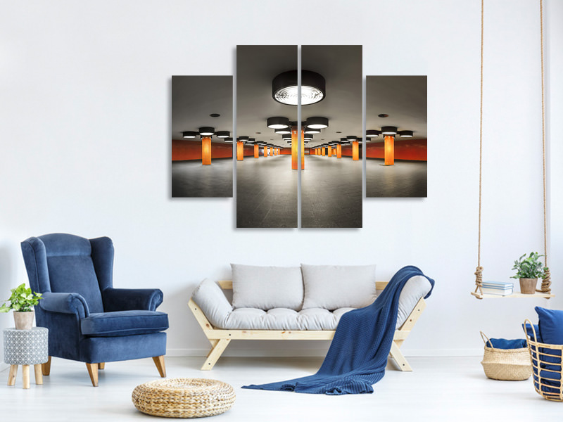 4 Piece Canvas Print On Stage 2