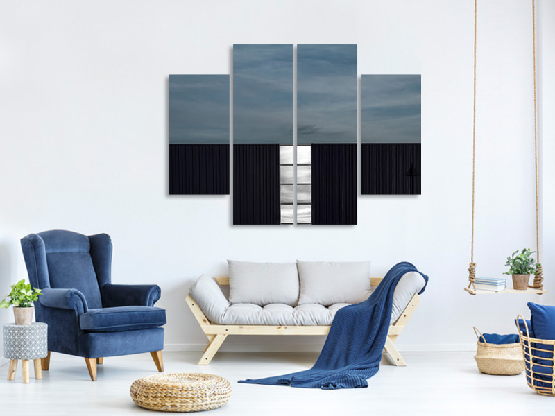 4 Piece Canvas Print Light Strip