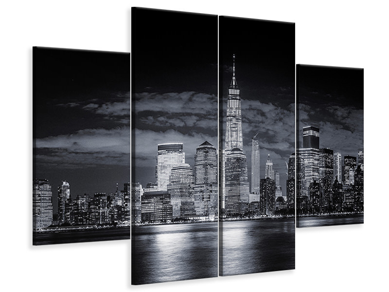 4 Piece Canvas Print Gotham