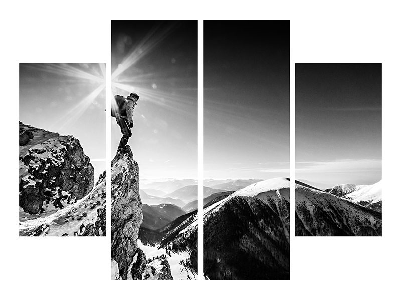 4 Piece Canvas Print Life At The Top
