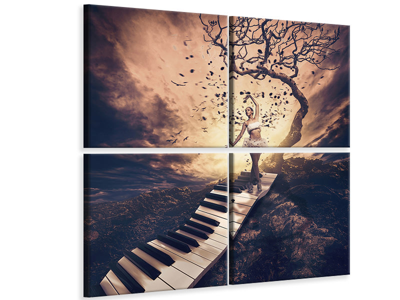 4 Piece Canvas Print Rhapsody