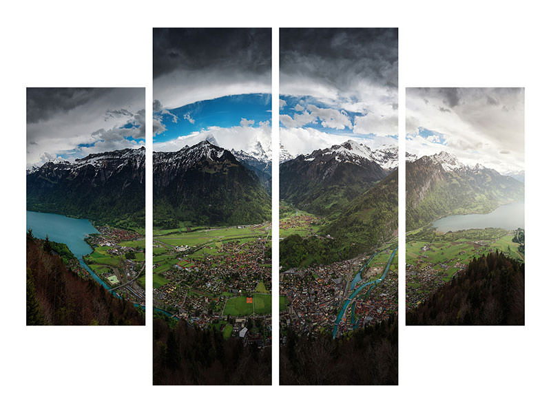 4 Piece Canvas Print Interlaken Eye