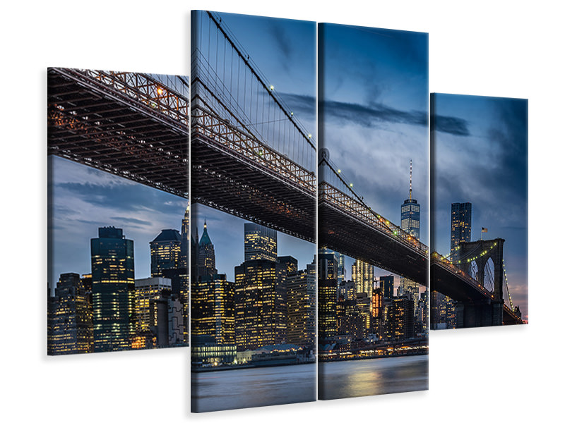 4 Piece Canvas Print Manhattan From Dumbo