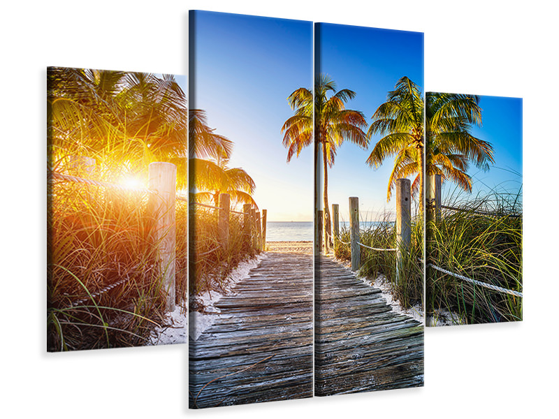 4 Piece Canvas Print Beach Away