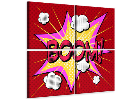 4 Piece Canvas Print Pop Art Boom