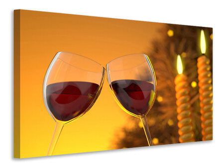 Canvas print We love red wine!