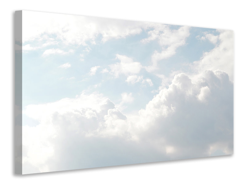 Canvas print Clouds in the light