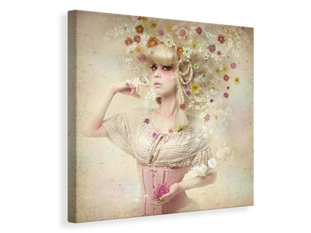 Canvas print Girl Of The Flower Garden II