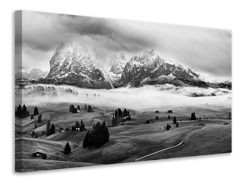 Canvastaulu Foggy Dolomites