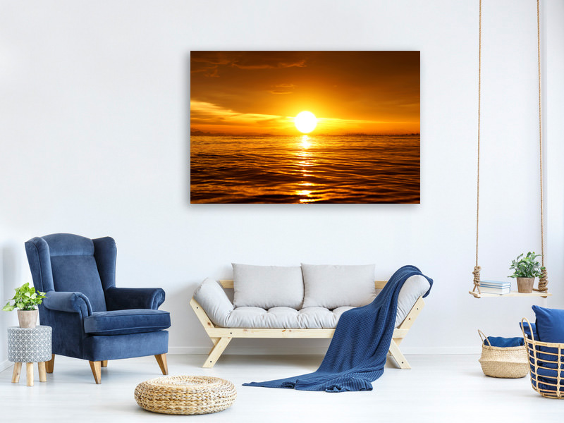 Canvas print Glowing Sunset On The Water