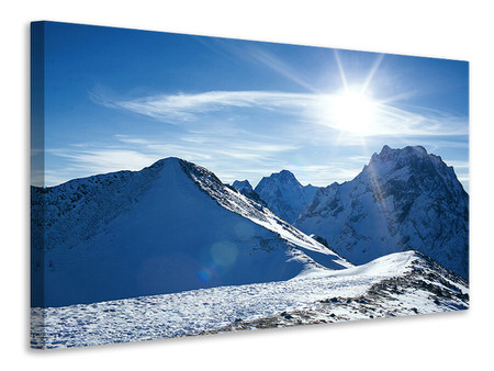 Canvas print The Mountain In Snow