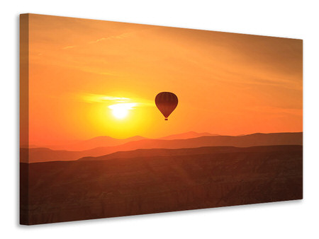 Canvastaulu Hot Air Balloon At Sunset