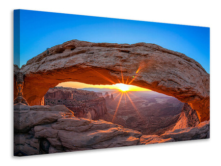 Canvastaulu Sunset At Mesa Arch