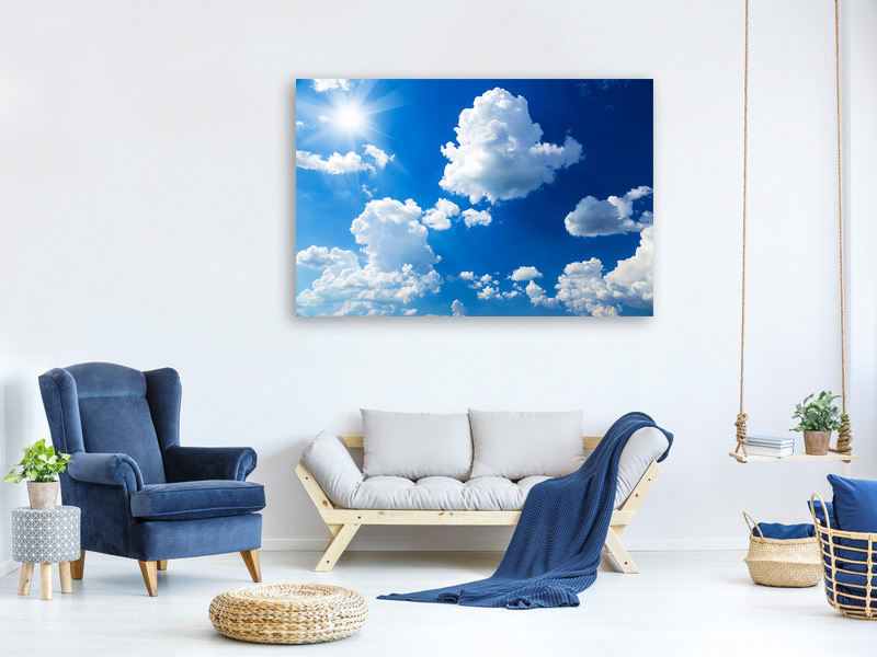 Canvas print Sky-Blue