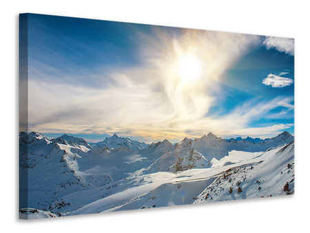 Canvas print Over The Snowy Peaks