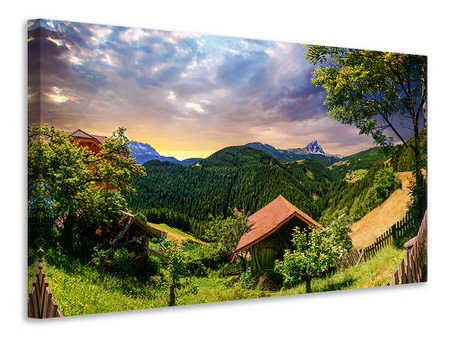Canvas print Swiss Mountains In Summer